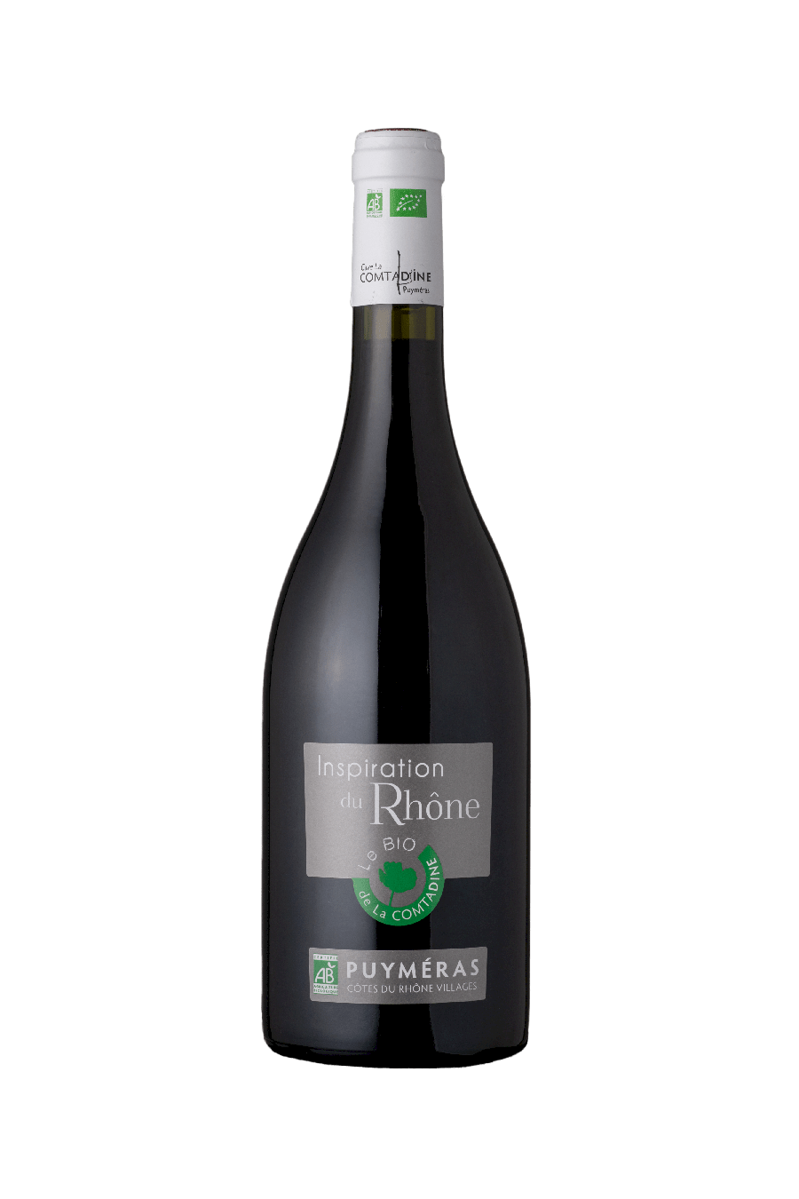 Bouteille vin rouge inspiration du rhône