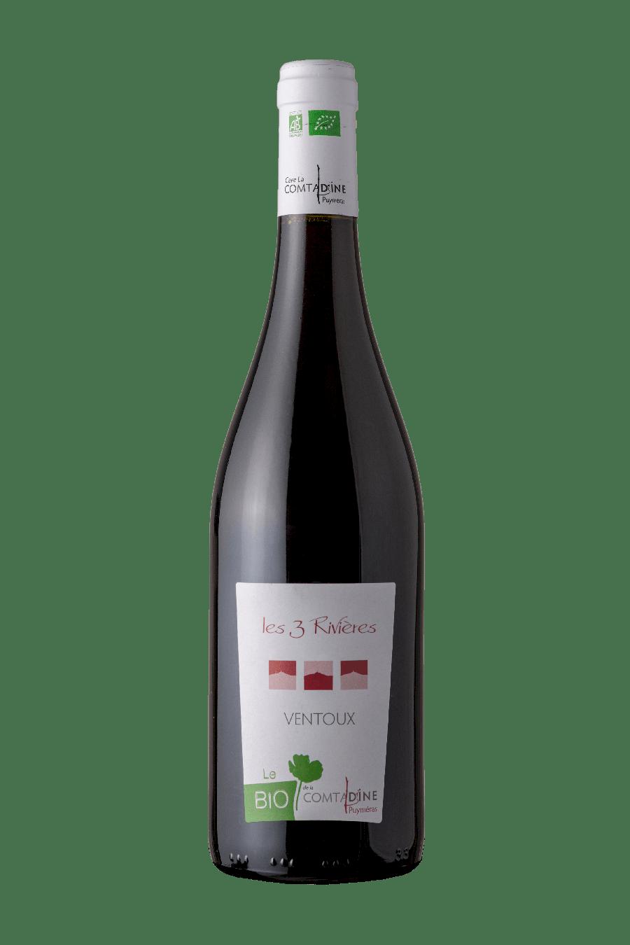 Bouteille vin rouge Les 3 rivières