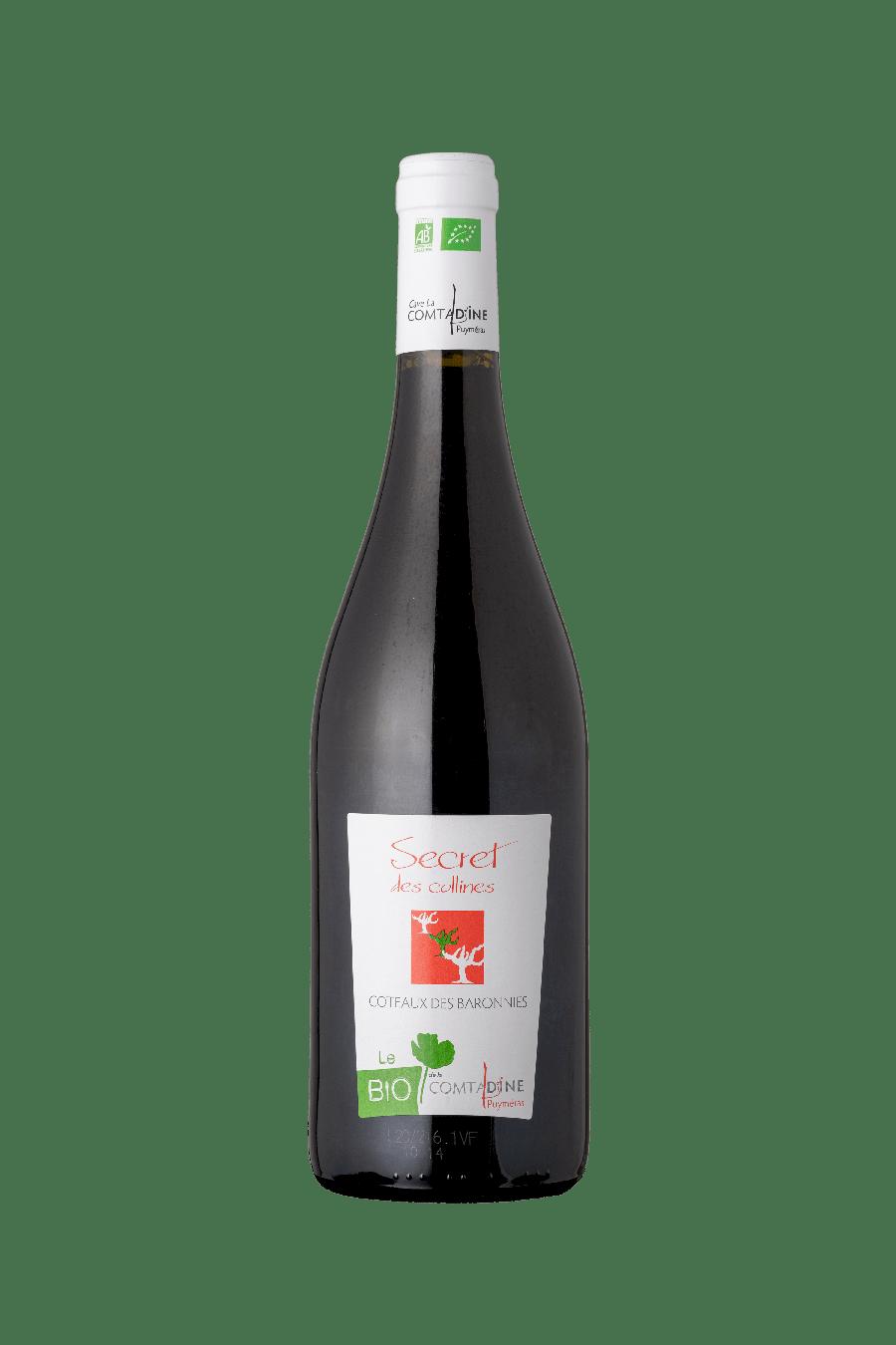 Bouteille vin rouge Secret des Collines