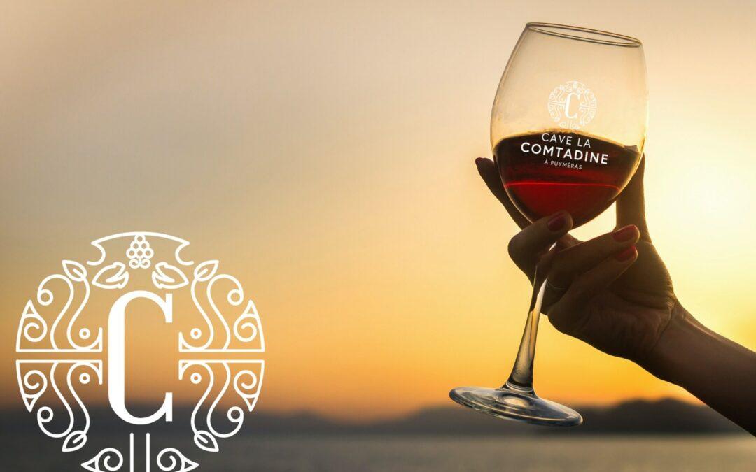 photo verre de vin rouge tenu par une main